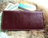 Slim Biold Leather Clutch Wallet in Violet
