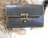 New style, ladies cracked  leather clutch wallet
