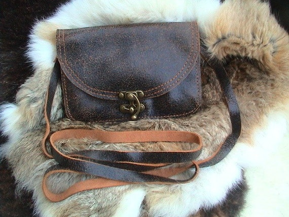 Small Crossbody leather bag / purse