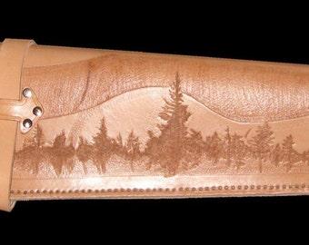 Custom Tooled Leather Rifle Scabbard