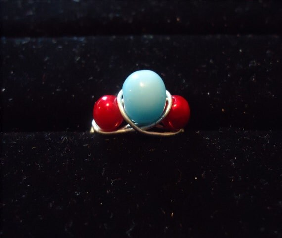 Nifty Red and Blue Ring