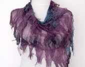 FREE SHIPPING-Butterfly Fringy Scarf with flower brooch- Multicolor-Ready for shipping-Fall fashion