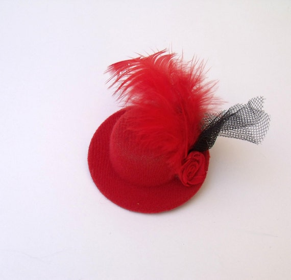 RED HAT Hair Clip-Ready for shipping-Black Friday and Cyber Monday  Sale-Christmas gift