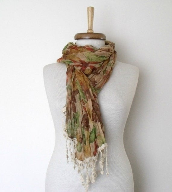 Multicolor Cotton Scarf Shawl-Floral Design-Ready for shipping