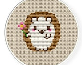 Instant Download,Free shipping,Cross stitch pattern, PDF,hedgehog,zxxc0050