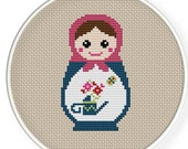 Instant Download,Free shipping,Cross stitch pattern, Cross-Stitch PDF,Mask Russian Doll ,Matryoshka  Babushkas,zxxc0235