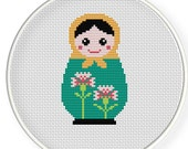 Instant Download,Free shipping,Cross stitch pattern, Cross-StitchPDF,Carnation Russian Doll,Matryoshka  Babushkas,zxxc0254