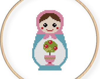 Instant Download,Free shipping,Cross stitch pattern, Cross-StitchPDF,Russian Doll,Matryoshka  Babushkas,zxxc0017