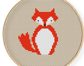 Instant Download,Free shipping,Cross stitch pattern, Cross-StitchPDF,red fox,zxxc0056