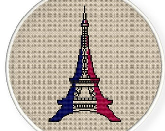 Instant download,free shipping,Cross stitch pattern, Cross-StitchPDF, vintage Eiffel Tower  ,zxxc0132