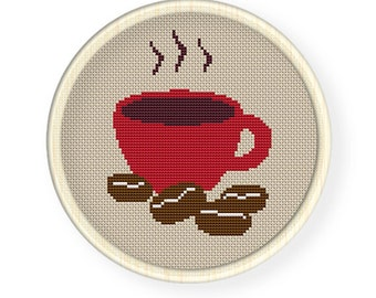Instant Download,Free shipping,Cross stitch pattern, PDF,coffee  ,ZXXC0168