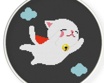 Instant Download,Free shipping ,Counted Cross stitch pattern,Cross-Stitch PDF,super cat simple color one,ZXXC0265