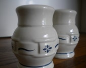 ON SALE Longaberger Pottery Salt and Pepper Shakers