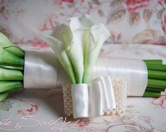 Wedding Corsage - Ivory Calla Lily Wristlet Corsage