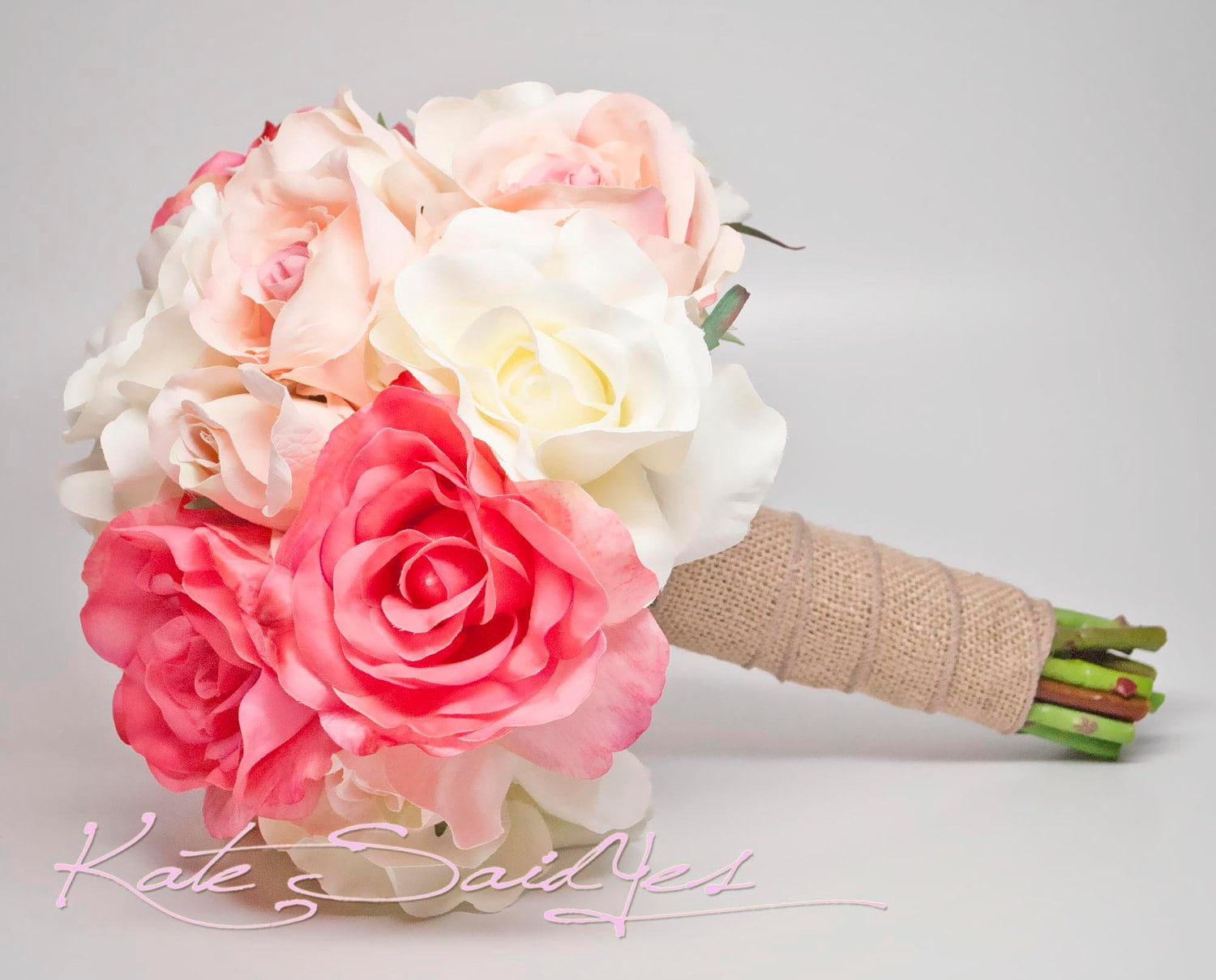pure pink rose bouquet - photo #17