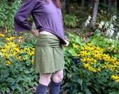 Organic Hemp and Cotton Short Fold Top Skirt