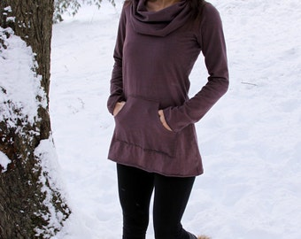 Organic Hemp and Cotton Stretch Kanga Cowl Tunic