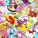 Kawaii Sticker Flakes Grabbie 50 peices