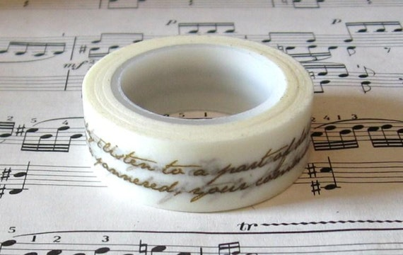 Japanese Washi Masking Tape. mt masking tape, pretty washi tape,Calligraphy Pattern