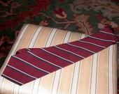 ON SALE Vintage Burberry Burberrys Tie Silk With Diagonal Stripes