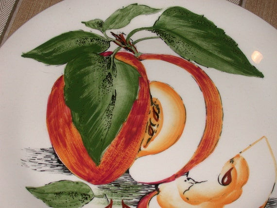 SALE Vintage Clarice Cliff Sunkissed Luncheon Plate England Royal Staffordshire Apples