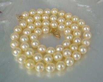 TOP Grade 6.5-7mm Cream South Sea Pearl Necklace 17 Inch