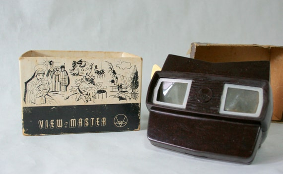 Vintage Brown View Master with original box