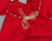 Fire red adorable baby cardigan