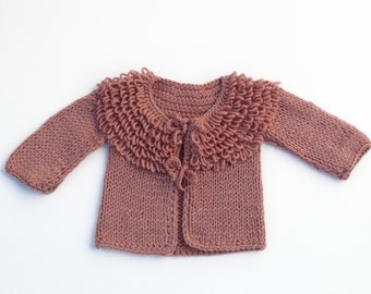 Ancient pink stylish baby girl sweater