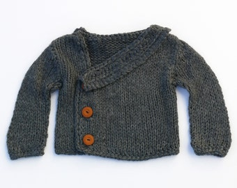 Deep grey stylish boy sweater