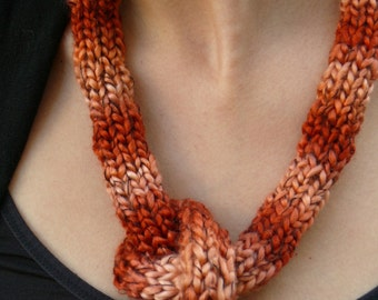 BAGEL stylish knitted necklace
