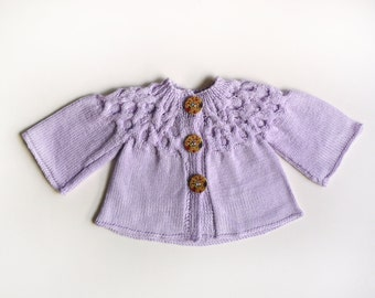 Adorable Lilac baby girl sweater