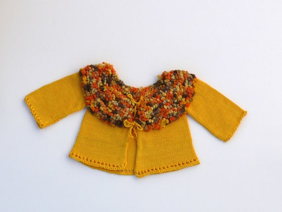 Unique adorable knitted baby cardigan