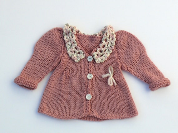 Ancient pink stylish baby sweater