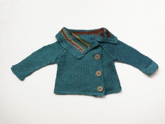 Handsome unisex baby sweater