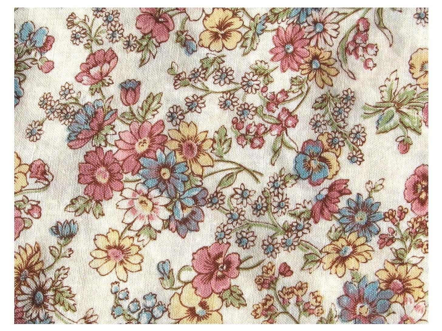 Super Sale Lazy Daisy Vintage Cotton Calico Fabric Yardage