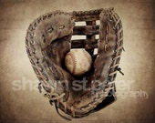 Vintage Baseball Glove and Ball Digital Download