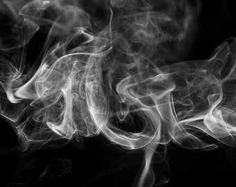 Smoke Patterns No. 1 Photographic Art Print, Wall Art for Home decor, 12 Sizes Available from Prints to Mounted Canvas