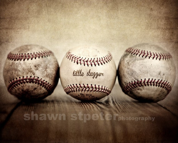 Vintage Baseballs Little Slugger Digital Download 300 DPI