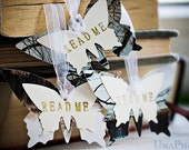 READ ME - Butterflies bookmarks, Inspired by Alice in Wonderland - from winter and snow photographies