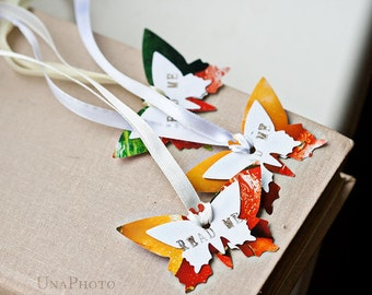 READ ME - Butterflies bookmarks, Inspired by Alice in Wonderland - from bright flower and fruit photographies