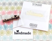CLEARANCE: Clear Polymer Rubber Stamp - Handmade with Heart - Perfect for DIY product packaging or scrapbook projects
