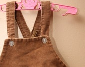 Vintage Baby Brown Overalls -- 6 Months