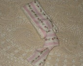 French Country Vintage Freyed Fabric Cotton Ribbon over 2 yards