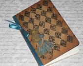 Handmade Moleskine Notebook Altered with Alice in Wonderland