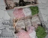 Hand Crinkled Seam Binding Packaged Sherbert Delight ECS