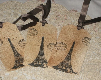 Gift Tag - Eiffel Tower - Vintage Paris