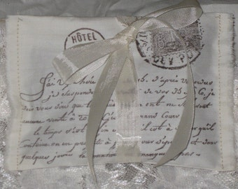 Vintage Paris Sachet Handmade and Hand Stamped Filled with  Provance Lavender Ooh La La