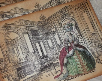 Salon - The Petit Trianon - Versailles Marie Antoinette Jumbo Gift Tags