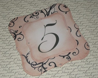 Vintage Style French Elegant Design Luxury Table Numbers/Names Wedding Original Design